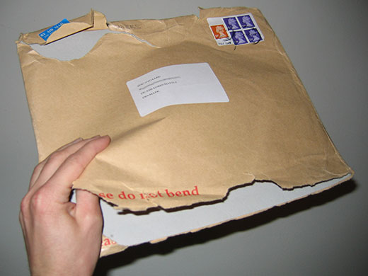 [Empty envelope with unknown sender:-( ]